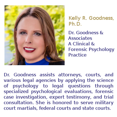 Dr. Kelly R. Goodness Clinic owner Dr. Goodness and Associates psychology clinic